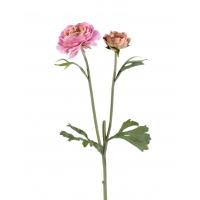 Ранункулюс искусственный розовый 45 см