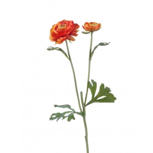 Ранункулюс искусственный оранжевый 45 см