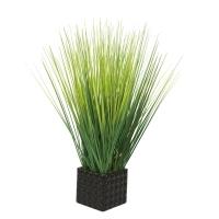 Трава искусственная в керамическом кашпо 65 см