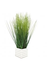 Трава искусственная в керамическом кашпо 75 см