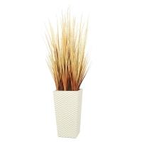 Трава с узким соцветием искусственная в высоком кашпо 100 см