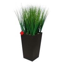 Трава искусственная низкая в высоком кашпо 90 см