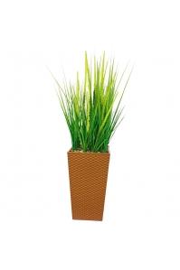 Трава с узким соцветием искусственная в высоком кашпо 110 см