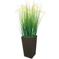 Трава с соцветием Султанка искусственная в высоком кашпо 120 см