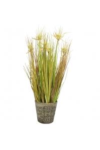 Трава с соцветием Колючка искусственная в кашпо 75 см