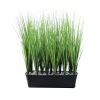 Трава высокая искусственная в балконном кашпо 85 см