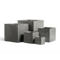 Кашпо Treez Effectory серия Beton куб темно-серый от 20 до 60 см