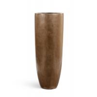 Кашпо Treez Effectory серия Metall высокий Griant округлый конус темное матовое золото
