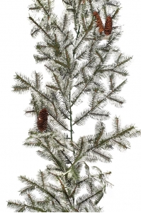 Елочная гирлянда GARLAND PINECONE SNOWY искусственная заснеженная с шишками 180 см
