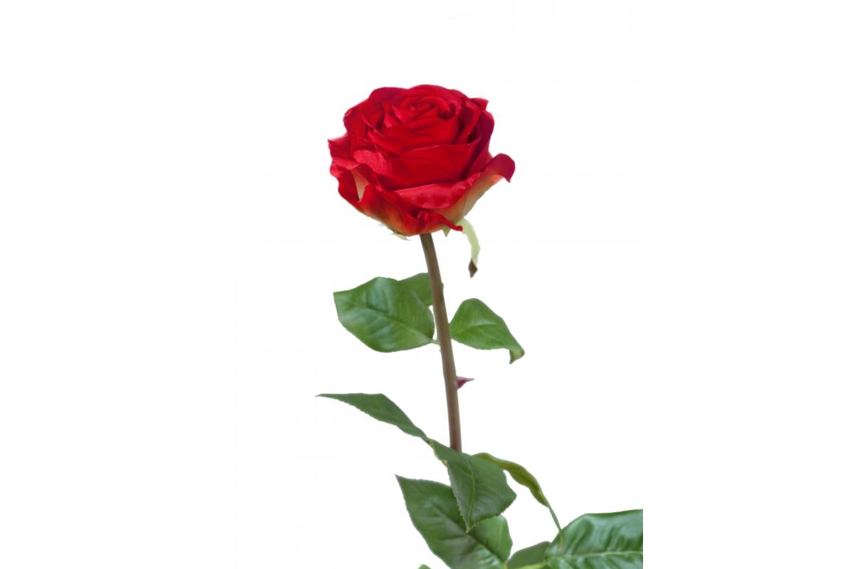 Роза Соло Нью большая искусственная красная 72 см