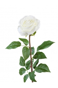 Роза Соло Нью большая искусственная белая 72 см