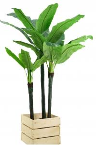 Пальма Банановая 3 ствола искусственная без кашпо 220 см