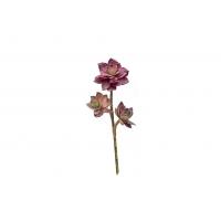 Суккулент мини Роза искусственный красный 20 см (Real Touch)