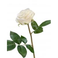 Роза Флорибунда Мидл искусственная белая 34 см
