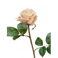 Роза Флорибунда Мидл Искусственная кремово-розовая 34 см