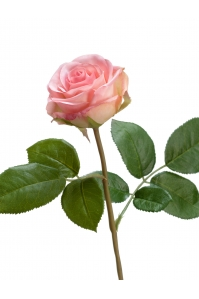 Роза Флорибунда Мидл искусственная нежно-розовая 34 см