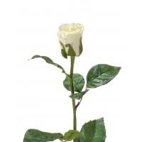 Роза Анабель искусственная бело-зеленая 52 см