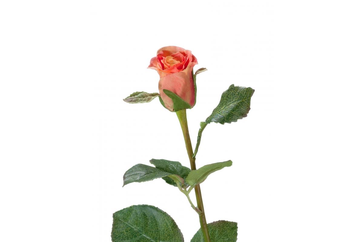 Роза Анабель искусственная розово-персиковая 52 см