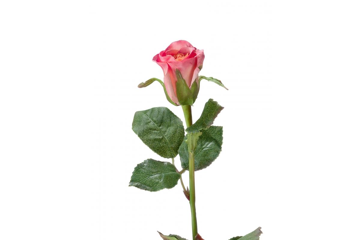 Роза Анабель искусственная розовая 52 см