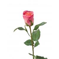 Роза Ла Бель искусственная темно-розовая 55 см