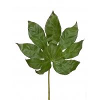 Фатсия лист малый искусственная зеленая 50 см