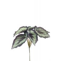 Бегония куст искусственная зелено-серая 23 см