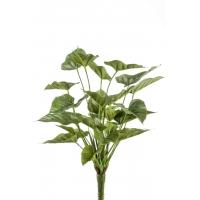 Антуриум куст искусственный зеленый 50 см (без кашпо)