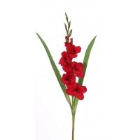 Гладиолус искусственный красный 83 см