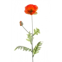 Мак искусственный оранжевый 70 см