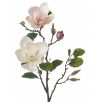 Магнолия ветка искусственная бело-розовая 72 см
