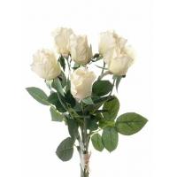 Букет из Роз искусственный светло-кремовый 38 см (real touch)