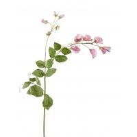 Горошек цветной искусственный светло-розовый 63 см