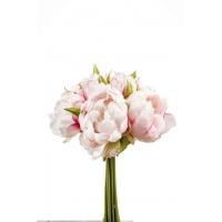 Букет из Пионов искусственных бело-розовый 24 см