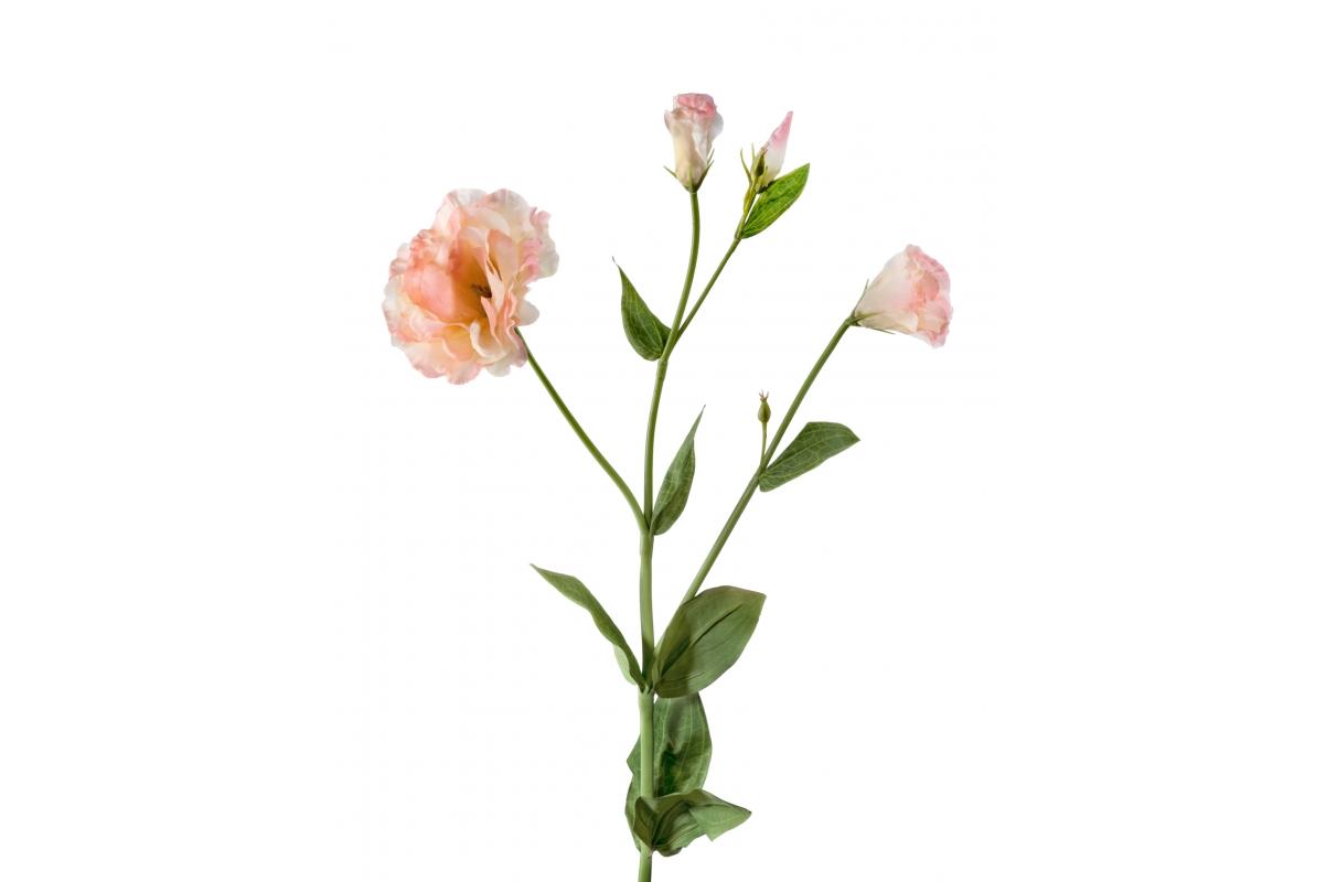 Эустома махровая искусственная розово-желтая 78 см