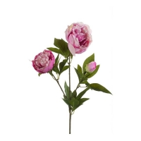 Пион искусственный ветвь розовый 70 см