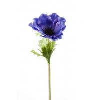 Анемон искусственный темно-голубой 47 см