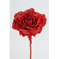 Роза новогодняя искусственная красная 60 см