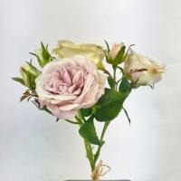 Букет из 3 роз искусственных c бутонами 37 см