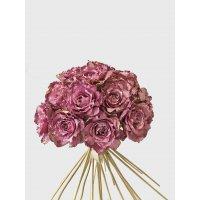 Букет из 25 Роз Ретро Романс искусственный фуксия 55 см