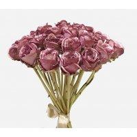 Букет из 25 Роз Ретро Романс искусственный фуксия 58 см