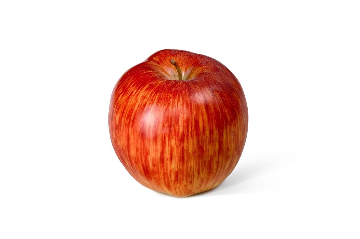 Яблоко искусственное красно-желтое 8 см