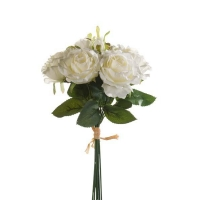 Букет из Роз искусственный белый 30 см