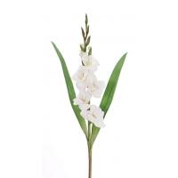 Гладиолус искусственный белый 83 см