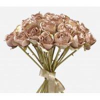 Букет из 25 Роз Ретро Романс искусственный розовый 58 см