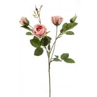Роза Пегги искусственная кустовая розовая 60 см
