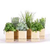 Трава искусственная набор из 6 штук в бумажных горшочках зеленая 17-24 см