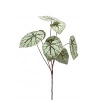 Бегония куст крупнолистная искусственная серо-зеленая 60 см