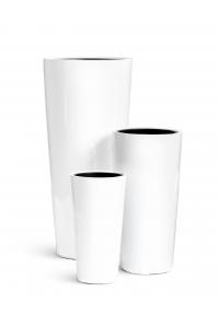 Кашпо TREEZ Effectory Gloss высокий конус белый глянцевый от 45 до 90 см