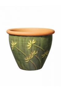 Кашпо deroma graminees vaso 34 verde d34 h27 см
