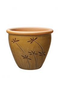 Кашпо deroma graminees vaso 34 marrone d34 h27 см